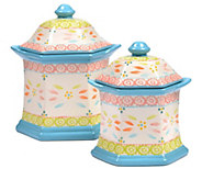 Temp-tations Old World Set of 2 Canisters - K303815