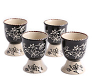 Temp-tations Set of 4 Floral Lace Egg Cups - K304015