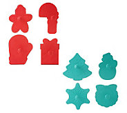 Prepology Set of 8 Holiday Themed Cookie Cutters - K34915