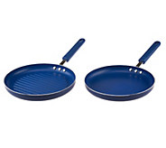 CooksEssentials Nonstick Aluminum Grill & Griddle Pan Set - K39315