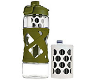 Aquasana Active Filtered Water Bottle with 2 Filters - K44515