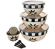 Temp-tations Old World S/3 Bowls w/ Measuring Cups and Spoons - K44615