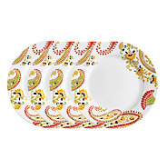 Rachael Ray Paisley Salad Plates - 4-Pack - K297316