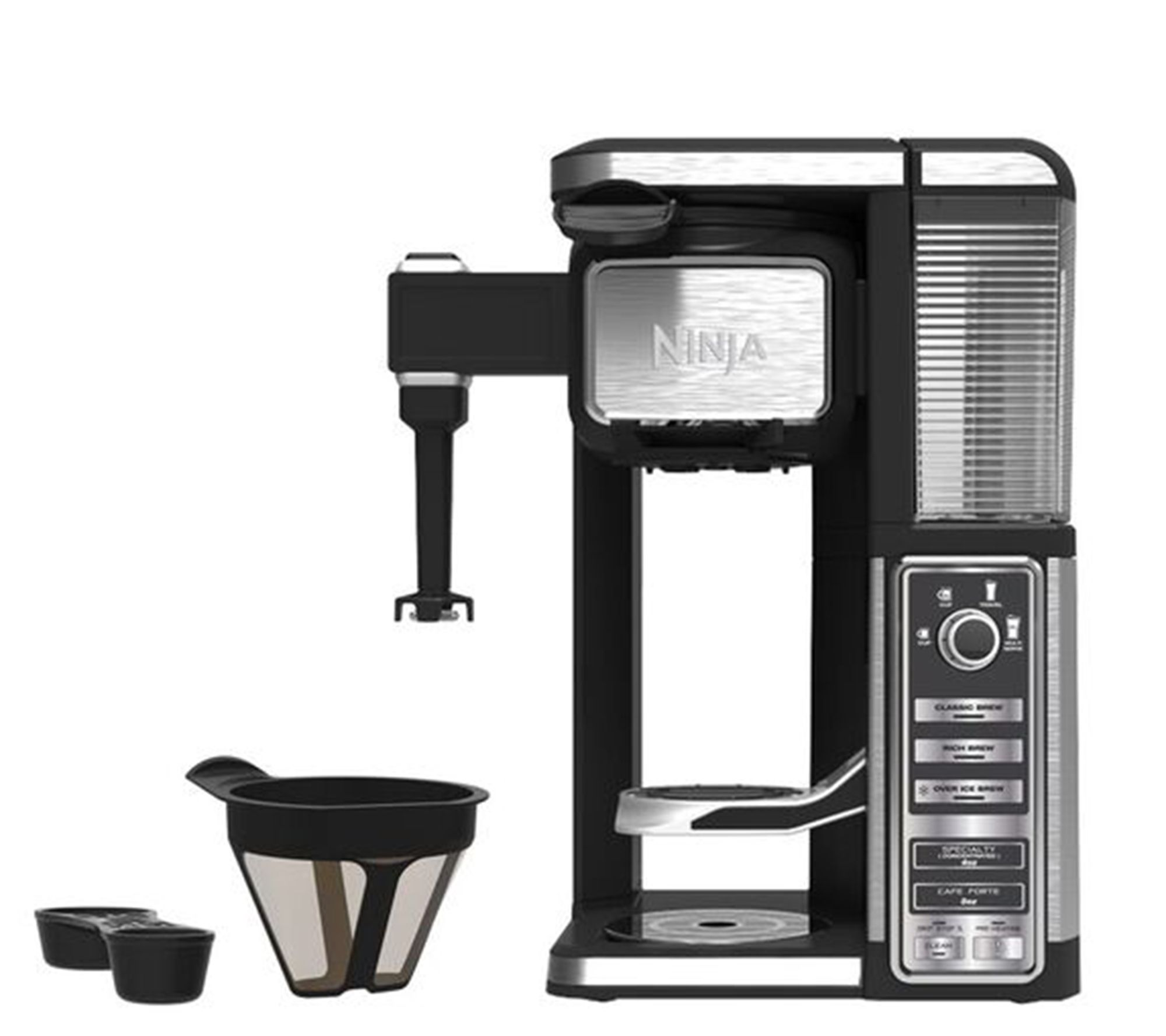 Uncategorized Qvc Kitchen Appliances ninja small appliances kitchen food qvc com single serve coffee bar with built in frother k305816