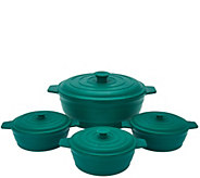 Cooks Essentials 4pc Microwave Silicone Casserole Set - K43616