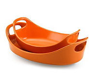 Rachael Ray Bubble and Brown Set of 2 - Orange - K125817