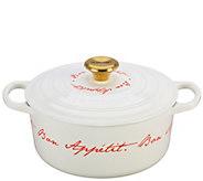 Le Creuset 4.5-qt Round Dutch Oven, Bon Appetit Script - K305517