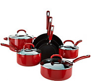 Circulon 11-piece Porcelain Dishwasher Safe Cookware Set - K43417