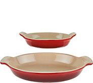 Le Creuset 2-piece Heritage Stoneware Au Gratin Dishes - K46118