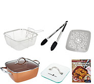 Copper Chef 9.5 Square Pan with 5-Piece Cooking System & Recipes - K45519