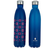 Manna Vogue S/2 25-oz Double Wall Stainless Steel Water Bottles - K46419