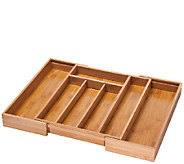 Honey-Can-Do Bamboo Expandable Cutlery Tray - K304220