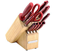 KitchenAid 12-Piece Pearlized Candy Apple Red Cutlery Set - K304520