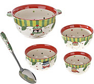 As Is Temp-tations S/4 Winter Whimsy Bowl Set - K307420