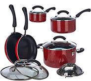 As Is Cooks Essentials Porcelain Enamel 11 piece Cookware Set - K307520