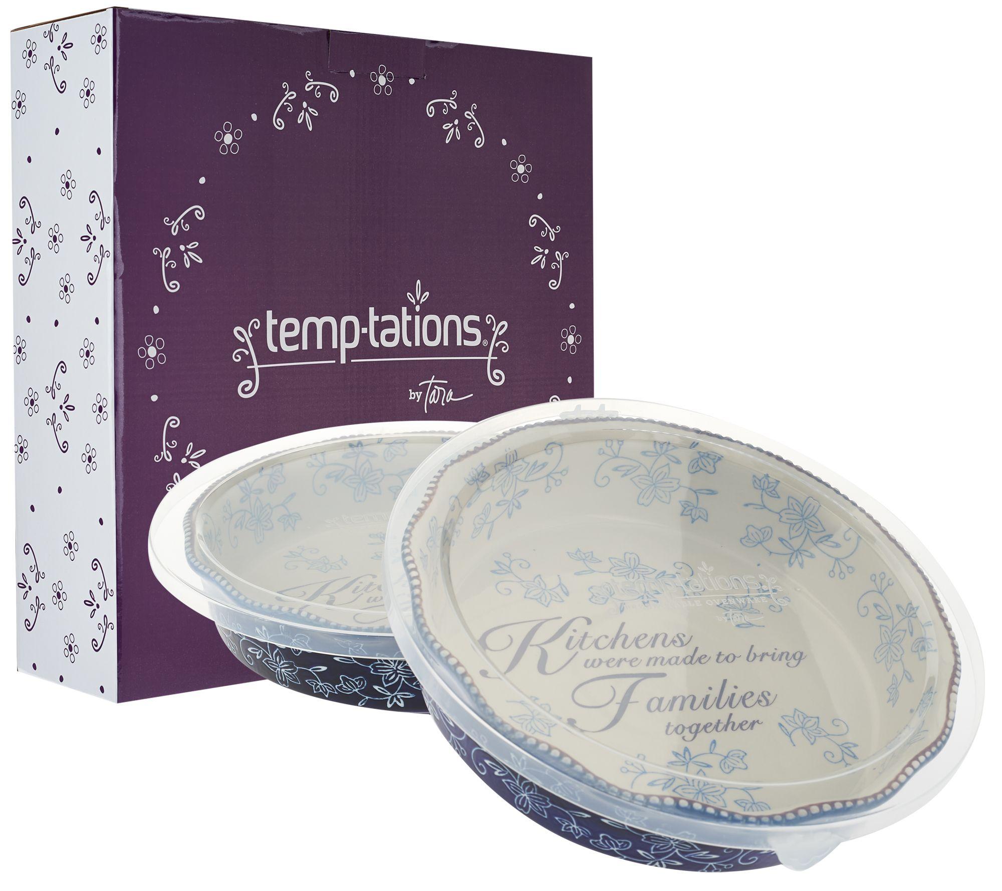 Temp-tations Floral Lace S/2 9\  Pie Plates with Gift Boxes - Page 1 \u2014 QVC.com  sc 1 st  QVC.com & Temp-tations Floral Lace S/2 9\