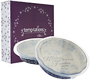 Temp-tations Floral Lace S/2 9 Pie Plates with Gift Boxes - K43020