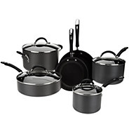 CooksEssentials 10-piece Hard Anodized Dupont Nonstick Cookware Set - K43420
