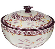 Temp-tations Old World 2.5 qt. Round Baker w/Figural Domed Lid - K43520