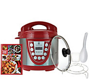 Cooks Essentials 4qt. SS Digital Pressure Cooker w/ Glass Lid - K44020