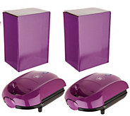 Yes Chef! Set of 2 Hot Pocket Sandwich Makers w/ Gift Boxes - K45920