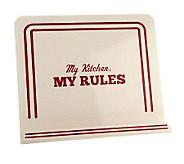 Cake Boss My Kitchen, My Rules Metal Cookbook Holder - K39921