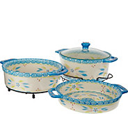 Temp-tations Old World Cook & Look 3pc Round Baker Set - K41421
