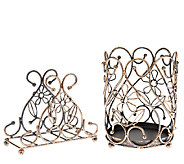 Temp-tations Napkin Holder & Wire Utensil Holder - K42121