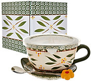 Temp-tations 24 oz. Old World Soup Mug w/Lid-it & Gift Box - K42321