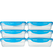 Lock & Lock 6 piece Rectangle Storage Set - K43321