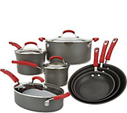 Rachael Ray 11-Piece Hard-Anodized Cookware Set - K46621
