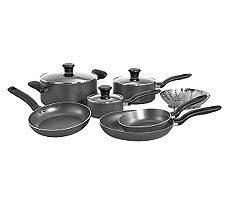 T-Fal A821SA94 Initiatives 10-Piece Cookware Set - Gray