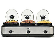Elite Platinum 3 x 2.5-Qt. Triple Slow Cooker - K302122
