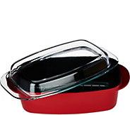As Is Cooks Essentials 2-1 Large 6 qt Aluminum Casserole - K307722