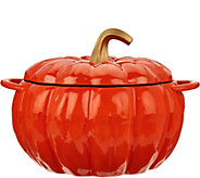 Cooks Essentials 3.5 qt Cast Iron Pumpkin Pot - K45822