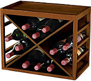 12-Bottle X Cube-Stackable Hardwood Wine Rack -Walnut Finish - K302223