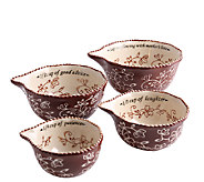 Temp-tations Floral Lace Sentiment Measuring Cups - K303823