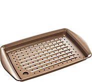 As Is Rachael Ray Nonstick 10 x 15 Crisper Pan w/ Insert Tray - K307423