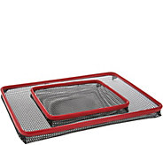 As Is Cooks Essentials Set of 2 Non-stick Oven Crisper Trays - K307523