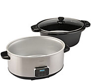 Toastmaster 7-qt Programmable Slow Cooker withLocking Lid - K376023