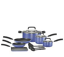 T-Fal 12-Piece Cookware Set - Blue