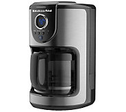 KitchenAid KCM1110B 12-cup Glass Carafe Coffee Maker - K132024