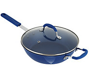 As Is Cooks Essentials 3 qt Nonstick Cast Iron Jumbo Cooker w/Lid - K307524