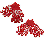 Temp-tations Old World or Floral Lace Oven Mitt Set - K42824