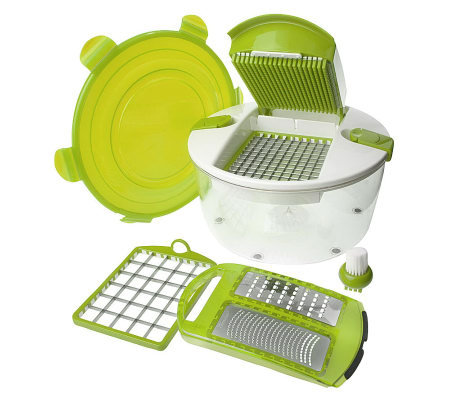 Genius Salad Chopper 6-piece Food Preparation System