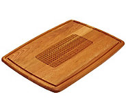 Snow River Pyramid Cut Cherry Wood Carving Board - K302625