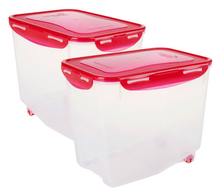 Lock & Lock Set of 2 Bulk Storage Containers with Containers