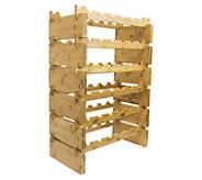 Sorbus 6-Tier Stackable Bamboo Wine Rack - Holds 36 Bottles - K376425