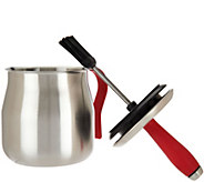 Cooks Essentials Stainless Steel BBQ Basting Pot - K44725