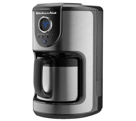 Kitchenaid Programmable Coffee Maker Thermal Carafe : KitchenAid 10-cup Thermal Carafe Coffee Maker QVC.com